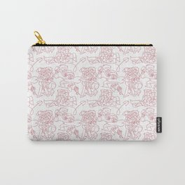 Pines Family Pattern Carry-All Pouch