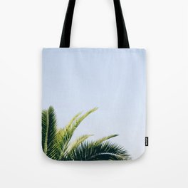 Green Palm Tree Tote Bag