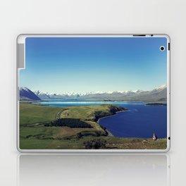 She felt tiny in Lake Tekapo Laptop & iPad Skin
