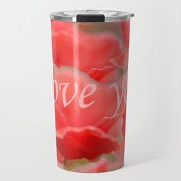 Love You! Red Poppies #decor #society6 Travel Mug