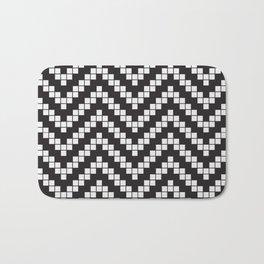 Herringbone Weave Seamless Pattern. Bath Mat