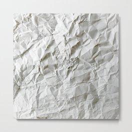 Crinkled Blues Metal Print