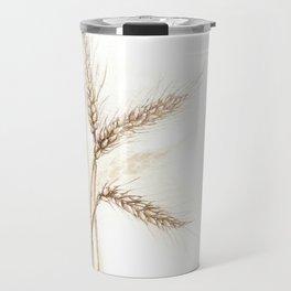 Wheat (Watercolor painting) Travel Mug