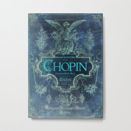 Frederick Chopin Blue Metal Print