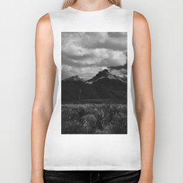 Dramatic Clouds over Mountain Range in Big Bend Biker Tank