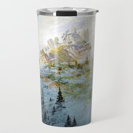 Caspar David Friedrich Morning Mist in the Mountains Travel Mug