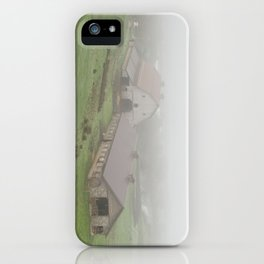 Foggy Oregon Barn Landscape iPhone Case