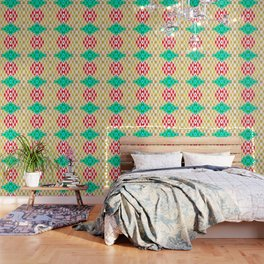 050 - traditional pattern interpretation with golden foil Wallpaper