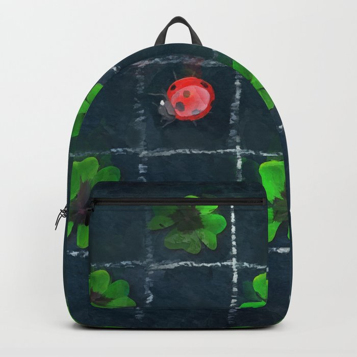 Clover and ladybugs tic-tac-toe pattern Backpack