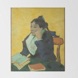 Vincent van Gogh - L'Arlésienne: Madame Joseph-Michel Ginoux (Marie Julien, 1848–1911) Throw Blanket
