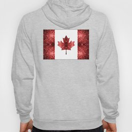 Canada flag red sparkles Hoody