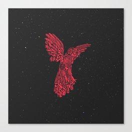 Gallito de las rocas peruvian bird red version by #Bizzartino Canvas Print