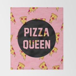 Pizza Queen - Pink Throw Blanket