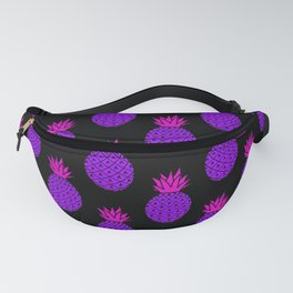 Purple Disco Pineapples Fanny Pack