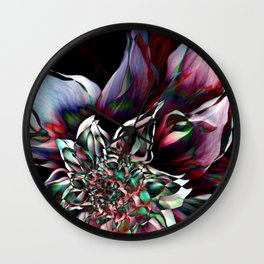Watercolor Flower Abstract Wall Clock