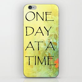 One Day at a Time (ODAT) Lilacs & Poppies iPhone Skin