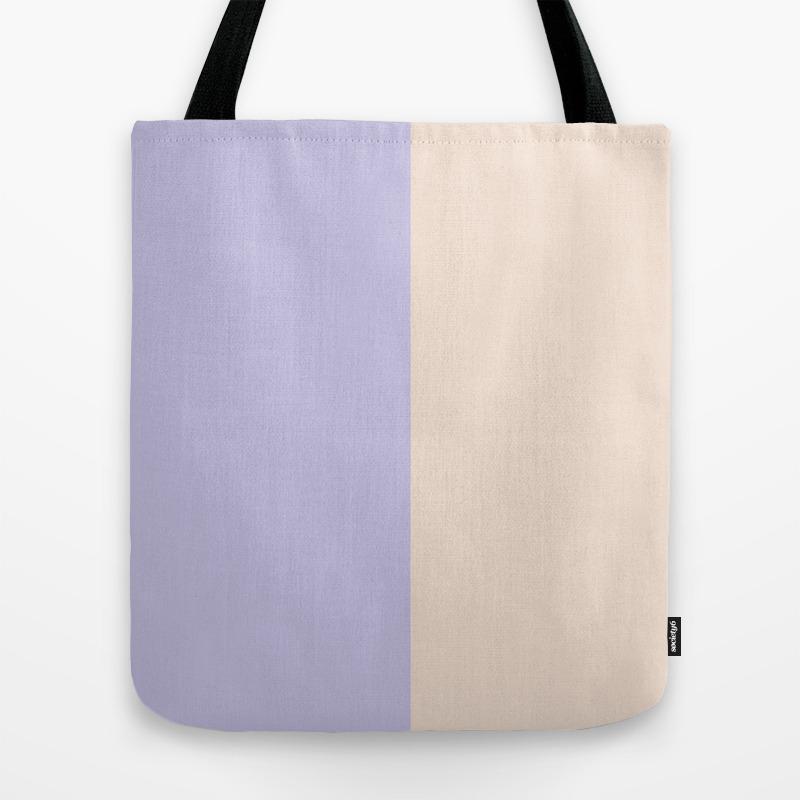 Lilac Lavender Ivory Modern Pastel Colorblock Geom… Tote Bag by Pink_water TBG8740549