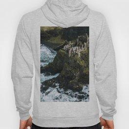 Castle ruin by the irish sea - Landscape Photography Hoody