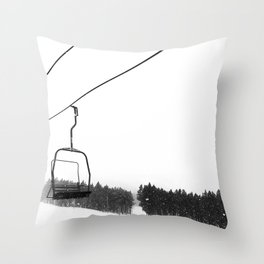 Ski Lifts Views Throw Pillow