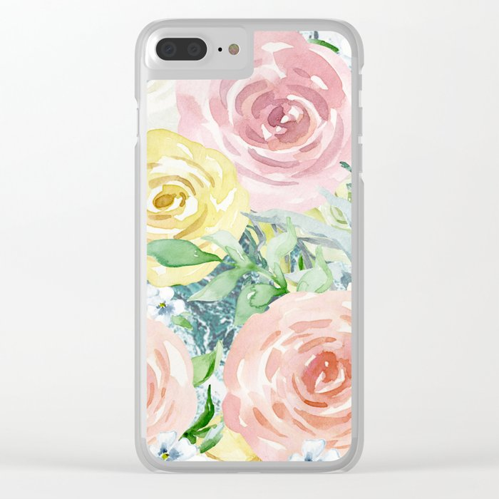 Botanical Pastel Beauty Clear iPhone Case