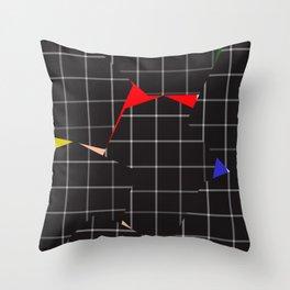 Optical Illusion Grid Throw Pillow