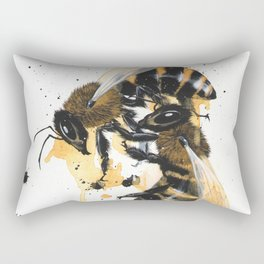 """Remnants"" series, VI (Honeybees) Rectangular Pillow"