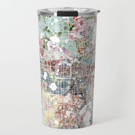 Orlando map landscape Travel Mug