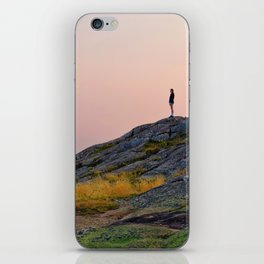 Standing on a Mountain iPhone Skin