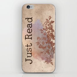 Just Read (Blossom) iPhone Skin