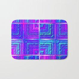 Checkered ultraviolet Bath Mat