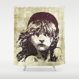 Les Miserables Girl Shower Curtain