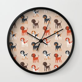 Coonhounds! Wall Clock