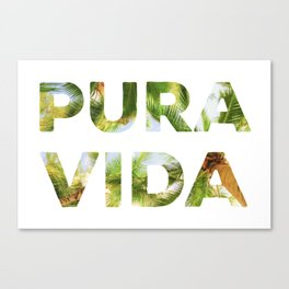 Pura Vida Costa Rica Palm Trees Canvas Print