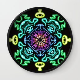 Neon Nirvana Wall Clock