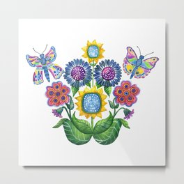 Butterfly Playground Metal Print