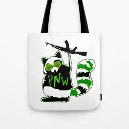 PNW Rebel Raccoon AK47 Tote Bag