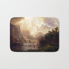 Albert Bierstadt - Among the Sierra Nevada, California Bath Mat