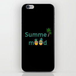 Summer Mood Pineapple Palm Trees iPhone Skin