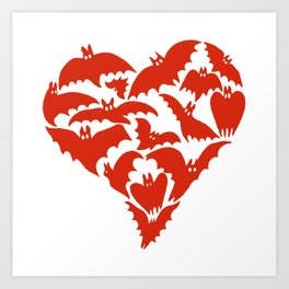 Batty For You Art Print