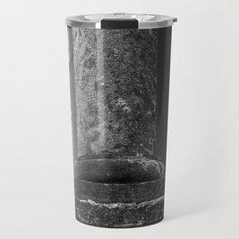 Stone column of a grey sky Travel Mug
