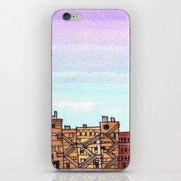 New York Purple Sky iPhone Skin