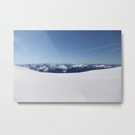 Cloudless Summit Metal Print
