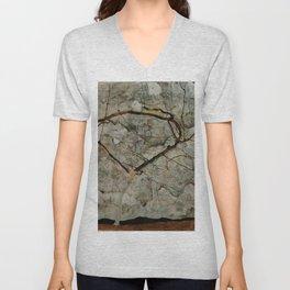 "Egon Schiele ""Autumn Tree in Stirred Air (Winter Tree)"" Unisex V-Neck"