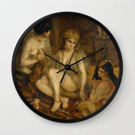 "Auguste Renoir ""Parisiennes in Algerian Costume or Harem"" Wall Clock"