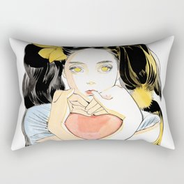 Yellow Ribbon Rectangular Pillow