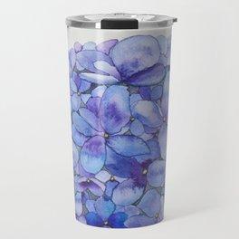 Watercolour Hydrangea Travel Mug