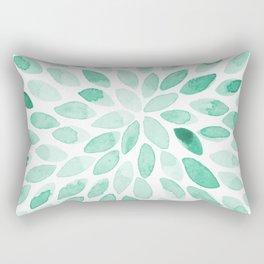 Watercolor brush strokes - aqua Rectangular Pillow