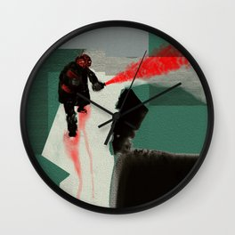 Red Saboteur Wall Clock