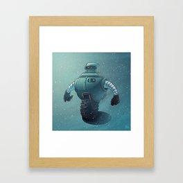 Robot Wheel Framed Art Print