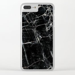 Black Marble Edition 1 Clear iPhone Case